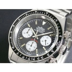 モントレス MONTRES 腕時計 クロノグラフ メンズ MC68187-BKWH|rcmdse
