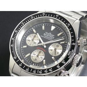 モントレス MONTRES 腕時計 クロノグラフ メンズ MC68187-BKSV|rcmdse