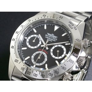 モントレス MONTRES 腕時計 クロノグラフ メンズ MC68199-BK|rcmdse