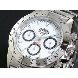 モントレス MONTRES 腕時計 クロノグラフ メンズ MC68199-WH|rcmdse