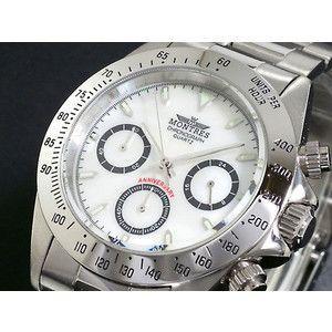 モントレス MONTRES 腕時計 クロノグラフ メンズ MC68199-WHS シェル|rcmdse