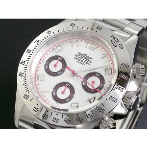 モントレス MONTRES 腕時計 クロノグラフ メンズ MC68199A-SV|rcmdse