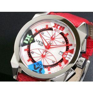 LOCMAN ロックマン 腕時計 時計 ラージ 160 CR MOP-赤/赤 革|rcmdse