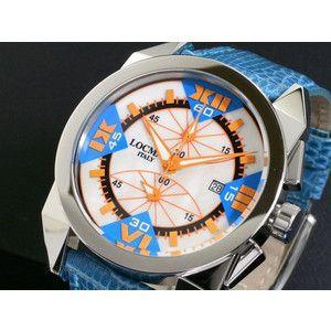 LOCMAN ロックマン 腕時計 時計 ラージ 160 CR MOP-OR/青 革|rcmdse