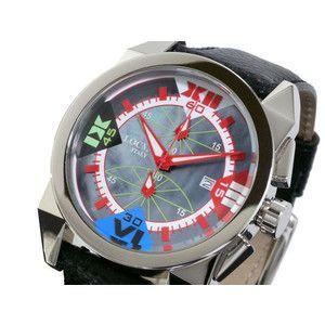 LOCMAN ロックマン 腕時計 時計 ラージ 160 CR 青MOP-赤/黒 革|rcmdse