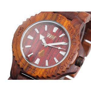 ウィーウッド WEWOOD 木製 腕時計 デイト ブラウン rcmdse