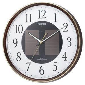 シチズン CITIZEN ソーラー電波掛時計 エコライフM807 4MY807-023 ブラウン|rcmdse