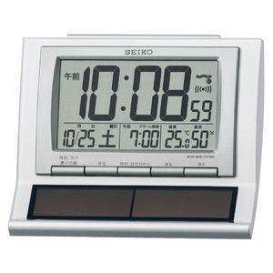 セイコー SEIKO ハイブリッドソーラー 電波 目覚まし時計 SQ751W|rcmdse