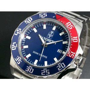ZANOBETTI ザノベッティ 300m防水 ダイバー 替えベルト付き 腕時計 Z801BL|rcmdse