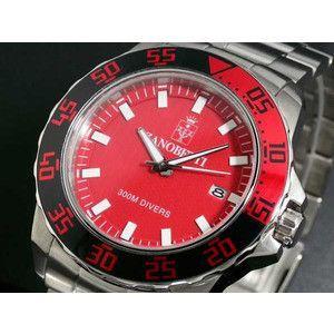 ZANOBETTI ザノベッティ 300m防水 ダイバー 替えベルト付き 腕時計 Z801RD|rcmdse
