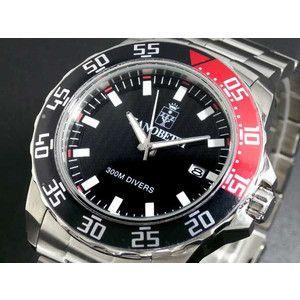 ZANOBETTI ザノベッティ 300m防水 ダイバー 替えベルト付き 腕時計 Z801BK|rcmdse