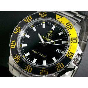 ZANOBETTI ザノベッティ 300m防水 ダイバー 替えベルト付き 腕時計 Z801YL|rcmdse