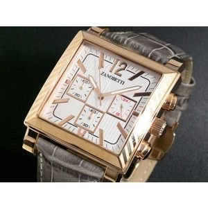 ZANOBETTI ザノベッティ クロノグラフ 腕時計 Z401PGYSI|rcmdse