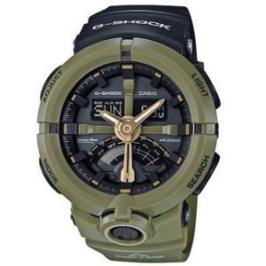 送料無料/新品 カシオ CASIO Gショック G-SHOCK パンチングパターンシリーズ カーキ GA-500P-3A ブラック 高価値 メンズ 腕時計