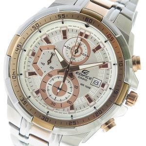カシオ CASIO エディフィス 買収 EDIFICE 定価 クロノ クオーツ 時計 メンズ ホワイト 代引不可 EFR-539SG-7A5V 腕時計
