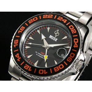 MUSK ムスク 腕時計 メンズ GMT MMT-022-05|rcmdse