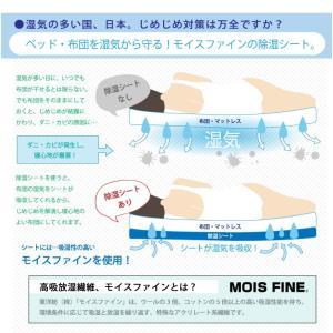 お得なダブルサイズ2枚セット 日本製 東洋紡 TOYOBO さらっとファイン モイスファイン ウオッシャブル 除湿シート ダブルサイズ 130×180cm|rcmdse|03