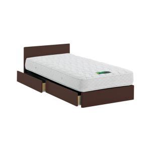 ASLEEP アスリープ ベッドフレーム セミダブルサイズ チボー FYAH42DC ダークブラウン 引出し付き アイシン精機 ベッド 代引不可|rcmdse