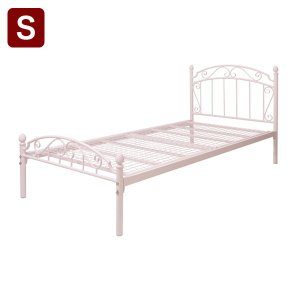 ティアラベッド Charles シャルル シングル フレームのみ ベッド ベッドフレーム シングルベッド 姫系 キュート 代引不可 rcmdse