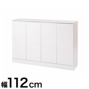 日本製 キッチンストッカー 低め Face 格安激安 カウンター下 キッチン収納 ホワイト白 代引不可 海外並行輸入正規品 国産 扉幅112 収納家具
