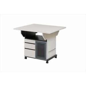 バタフライカウンターテーブル 幅89.5cm ウォッシュホワイト色 代引不可|rcmdse