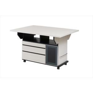 バタフライカウンターテーブル 幅119.5cm ホワイトウォッシュ色 代引不可|rcmdse