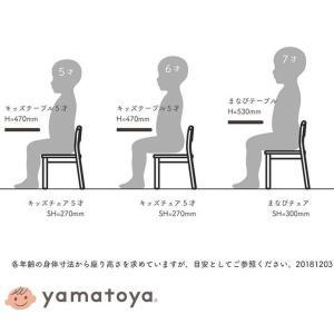 yamatoya 大和屋 業務用 コントラクト 台形テーブル 5才用 家具 幼稚園 保育園 スタッキングテーブル 木製 子供用机 代引不可|rcmdse|08
