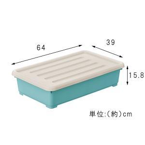 収納ボックス カラーピアンタ 奥行64cm 浅型 4個組 プラスチック収納 収納ケース 収納BOX プラスチック 4個セット ピアンタ64 代引不可|rcmdse|06