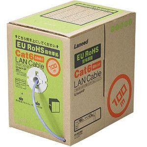 ELECOM EU RoHS指令準拠 CAT6対応 LANケーブル 100m/リール巻(ブルー) ( LD-CT6/BU100/RS )(ケーブル/コネクタ) rcmdse