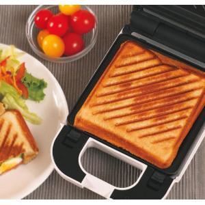 着脱式シングルホットサンドメーカー KDHS-003W 耳 6枚切り食パン対応 厚焼き プレスサンドメーカー 1枚焼き サンドウィッチメーカー|rcmdse