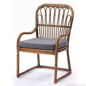 ラタン ダイニングチェア Breeze シリーズ C270GYM 家具 インテリア イス 椅子 ダイニングチェア アームチェア 籐 ラタン  代引不可|rcmdse