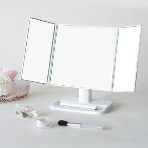 可愛いワイドな三面鏡!メイクアップミラー 家具 鏡・ドレッサー 卓上ミラー NK-242 代引不可 rcmdse