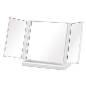 折りたたみ式ワイドな三面鏡◎カジュアルコンパクトミラー【カラフル】【ミラー】 家具 鏡・ドレッサー 卓上ミラー NK-245 代引不可 rcmdse