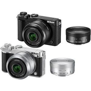 ニコン lt;Nikon 完売 1gt;Nikon ミラーレス一眼カメラ J5 ダブルレンズキット 全商品オープニング価格 ブラック J5WLKBK 代引不可 2081万画素
