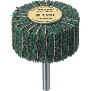 TRUSCO ナイロンミックスホイール 外径60X厚25X軸6 5個入 120♯ FM6025 120 研削研磨用品・ナイロン軸付ホイール|rcmdse