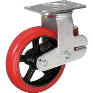 イノアック バネ付き牽引車輪 ウレタン車輪タイプ 自在金具付 メーカー直送 KTU-200WJ-YS 緩衝キャスター Φ200 キャスター ふるさと割