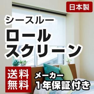 日本製 ロールスクリーン オーダー 1cm単位 シースルー 丸洗いOK 幅181~200cm 高さ30~90cm タチカワブラインドグループ 代引不可|rcmdse