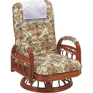 <title>リクライニングチェア 360度回転座椅子 ついに再販開始 〔座面高26cm〕 木製 籐 肘付き〔代引不可〕</title>