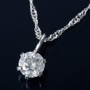K18WG 0.1ctダイヤモンドペンダント ネックレス スクリューチェーン 鑑別書付き 定価の67%OFF 出色