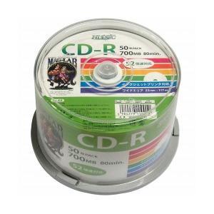 (まとめ)HI DISC CD-R 700MB 50枚スピンドル データ用 52倍速対応 白ワイドプリンタブル HDCR80GP50〔×5セット〕