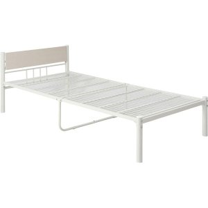新生活家具3点セット ホワイト(ベッド&テーブル・チェア&ハンガーラック)〔組立品〕〔代引不可〕...