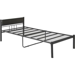 新生活家具3点セット ブラック(ベッド&テーブル・チェア&ハンガーラック)〔組立品〕〔代引不可〕...