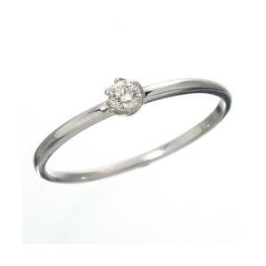 K18 ダイヤリング 指輪 7号 未使用品 シューリング ホワイトゴールド セール特価
