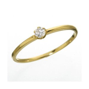 <title>K18 送料無料(一部地域を除く) ダイヤリング 指輪 シューリング イエローゴールド 7号</title>