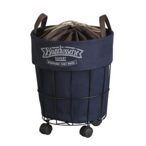BRANCHISSERIE ランドリーカート 収納 ランドリーバッグ ランドリーワゴン かご カゴ キャンバス 生地 洗濯 代引不可|rcmdse