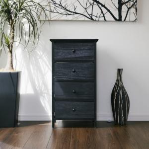 木製4段チェスト 北欧 おしゃれ かわいい 家具 収納 インテリア 軽量 組立不要 代引不可|rcmdse