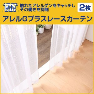 アレルGプラス レースカーテン 2枚セット 幅:〜100cm 丈:116〜150cm 国産 イージーオーダー レースカーテン (代引き不可)|rcmdse