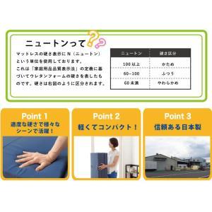 日本製 国産 マットレス シングル 6つ折り 六つ折り 軽量 コンパクト 収納 折りたたみ コンパクト 6つ折りマットレス 代引不可|rcmdse|02