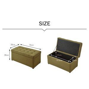 スツール 収納 BOX STOOL ボックス 収納ボックス 収納スツール ベンチ オットマン おもちゃ箱 PVCレザー ファブリック 2P|rcmdse|05