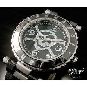 DADangel ダッドエンジェル 腕時計 スカル セラミック メンズウォッチ DAD701-05 ブラック|rcmdse
